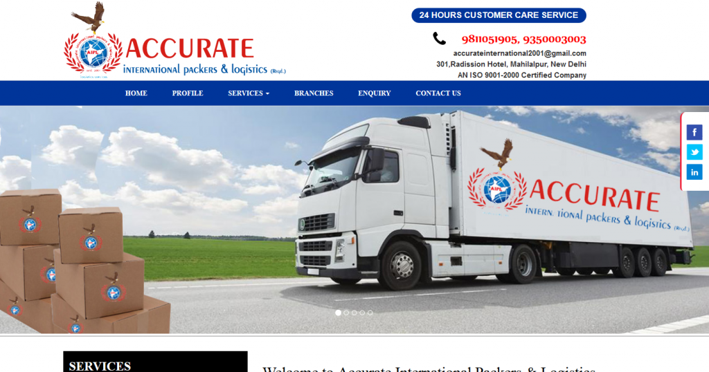 Accurate International Packers & Logistics