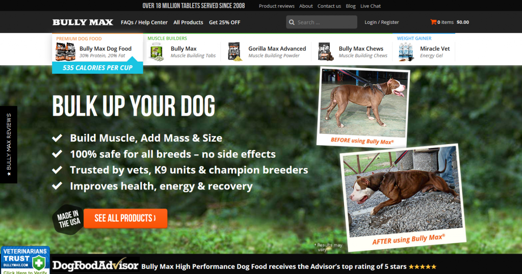 Bully Max Dog Food & Supplements