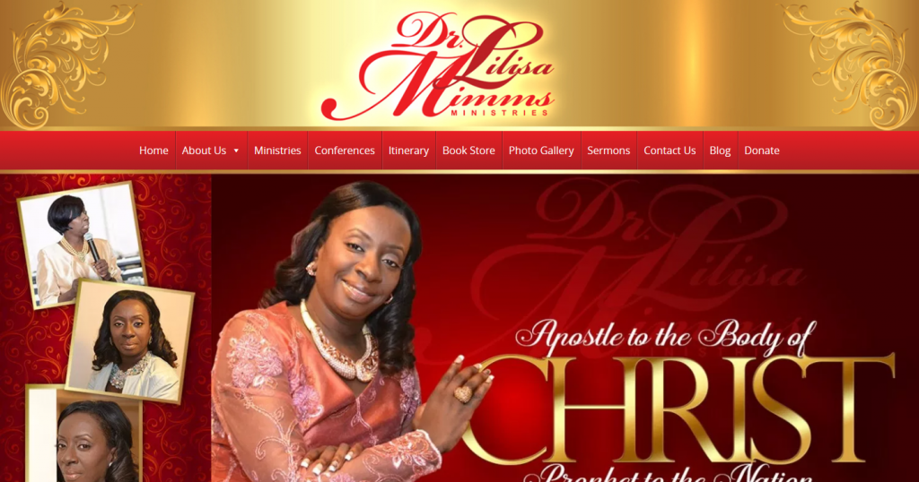 Dr. Lilisa Mimms Christian Author & Prophet Web Design