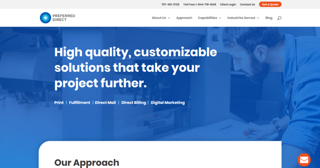 Preferred Direct's website
