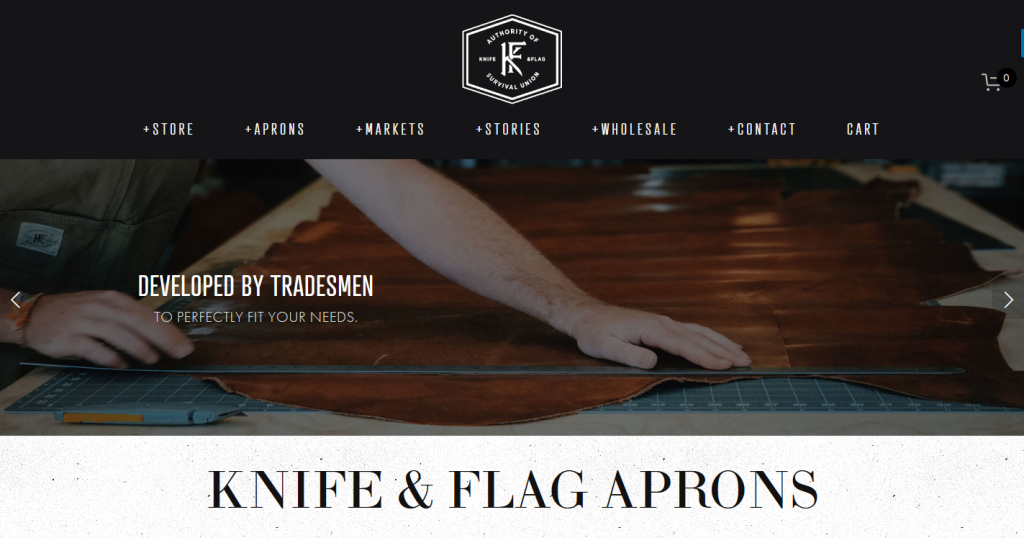 Knife & Flag