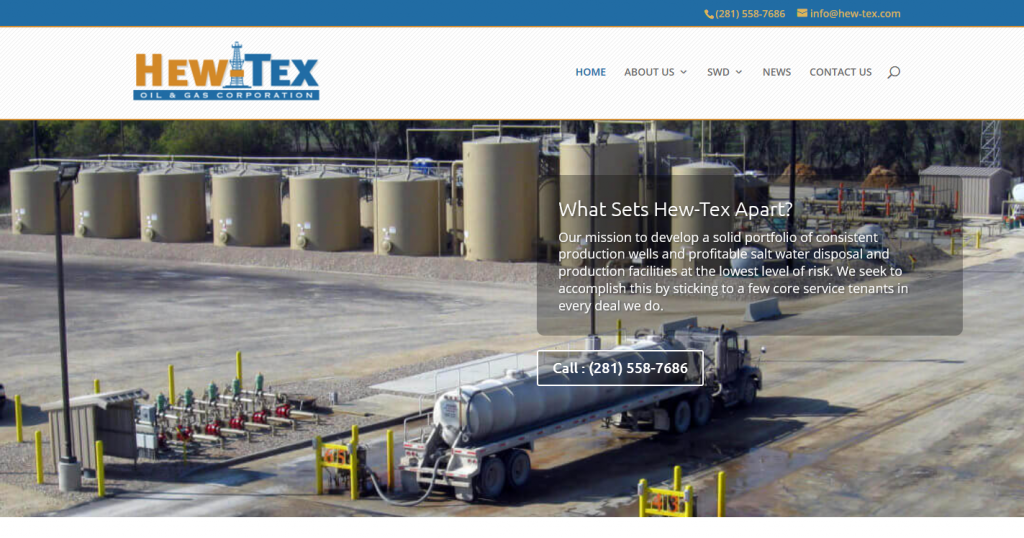 Hew-Tex Oil & Gas Corporation