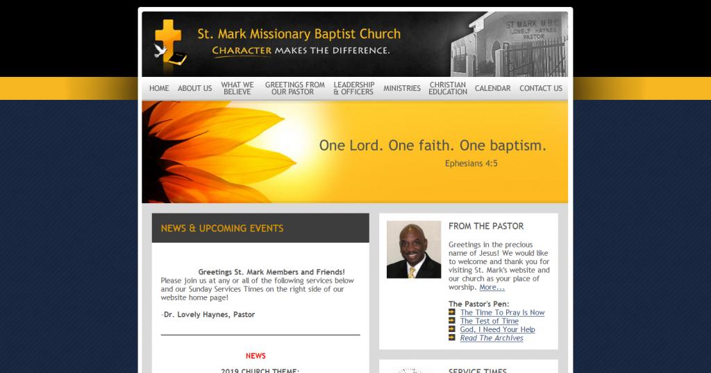 ST. MARK MISSIONARY BAPTIST CHURCH